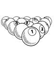doodle billiard pool balls vector image vector image