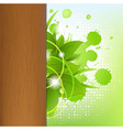 Eco Wood Background With Leafs vector image vector image