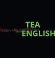 english tea and its genesis text background word vector image vector image
