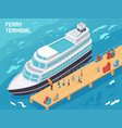ferry terminal isometric vector image vector image