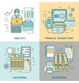 Finances And Accounting Concept vector image