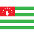 Flag of abkhazia vector image vector image