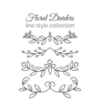 Flourishes Hand drawn dividers set Line style vector image vector image