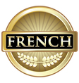 French Gold Label vector image vector image