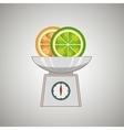 fruit on balance isolated icon design vector image