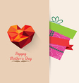 gift mother day background retro vector image vector image