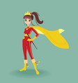 girl hero asian style character vector image vector image