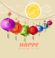 happy mid autumn festival vector image vector image