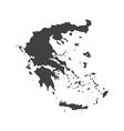 Hellenic Republic map silhouette