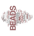 loads of fun with craft beads text background vector image vector image