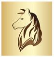 Majestic horse portrait on gold background