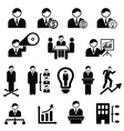 Management icons vector image vector image