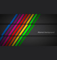 modern rainbow colored lines on black background vector image vector image