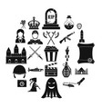 movie director icons set simple style vector image vector image