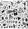 Music - seamless background vector image vector image