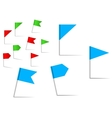 Pin flags for navigation and location service vector | Price: 1 Credit (USD $1)