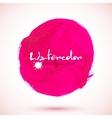 Pink acrylic paint circle vector image