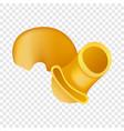 pipe rigate pasta icon realistic style vector image vector image