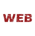 Red grunge web logo vector image vector image