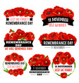 red poppy flower symbol for remembrance day design vector image