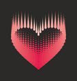 romantic design element - heart halftone for vector image