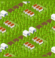 rural isometric natural vector image vector image
