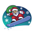 santa claus delivering the christmas gift by vector image vector image