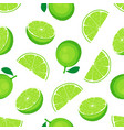 seamless lime pattern isolated on white background vector image