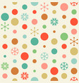 seamless pattern circle and snowflakes vector image