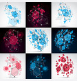 set of bauhaus abstract backgrounds made with vector image vector image