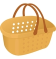 Shopping plastik empty yellow basket icon vector image