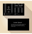 simple black striped business card design eps10 vector image vector image