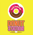 single donut station vector image vector image