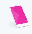 smartphone with material design screen setting vector image vector image