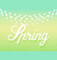 spring background in gentle green and blue colors vector image vector image