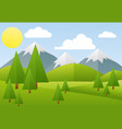 spring landscape mountain vector image vector image