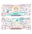 thin line flat design attention and vector image