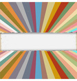 Torn paper with colorful retro rays vector image vector image