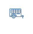 trolley cart line icon concept trolley cart flat vector image vector image