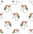 unicorn seamless pattern childish pattern for vector image