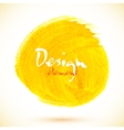 Yellow acrylic paint circle vector image