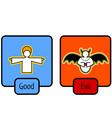 good and evil symbols vector image