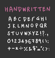 handwritten alphabet capital letters with vector image