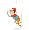 Hanging puppet vector image