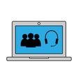 Online conversation icon vector image