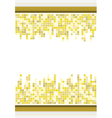 abstract golden color mosaic background vector image