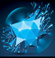 abstract low poly wrecked object with white vector image vector image