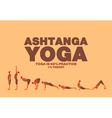 Ashtanga yoga Poster vector image vector image