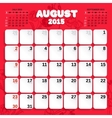 August Month Calendar 2015 vector image vector image