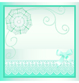 background card with a bow vector image vector image